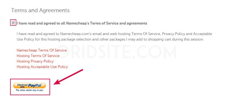 معالجة طلبك لشراء استضافة نيم شيب