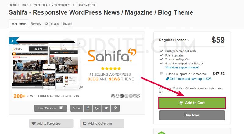 شراء قالب صحيفة Sahifa