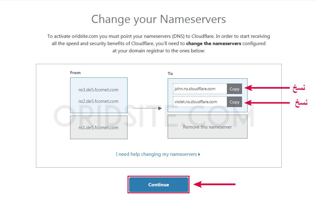نسخ DNS الخاص ب Cloudflare