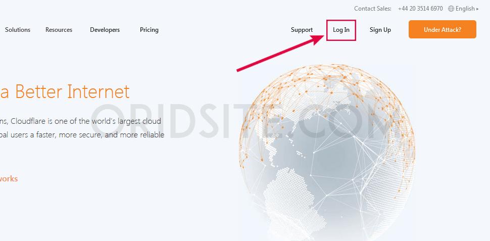 الموقع الرسمي ل Cloudflare