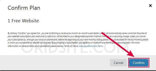 تحديد الخطة المجانية على Cloudflare