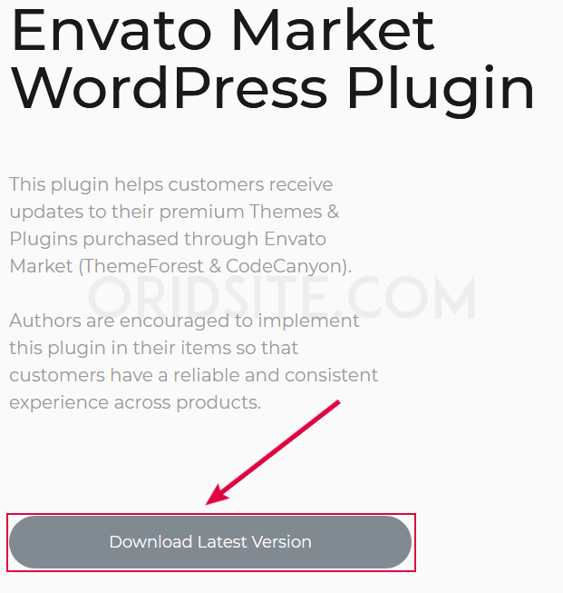 رفع إضافة Envato Market WordPress Plugin