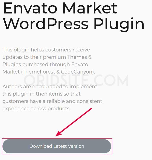 تحميل ملف إضافة Envato Market WordPress Plugin