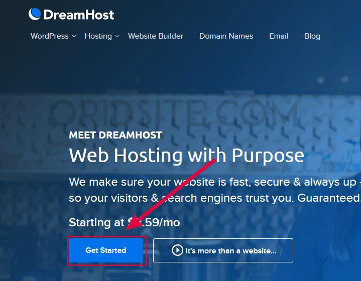الموقع الرسمي لإستضافة DreamHost
