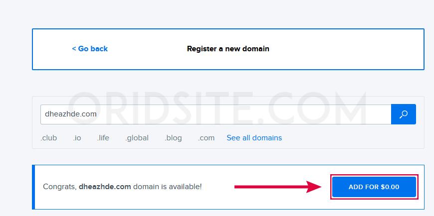 حجز نطاق مجانا للسنة الأولى من dreamhost