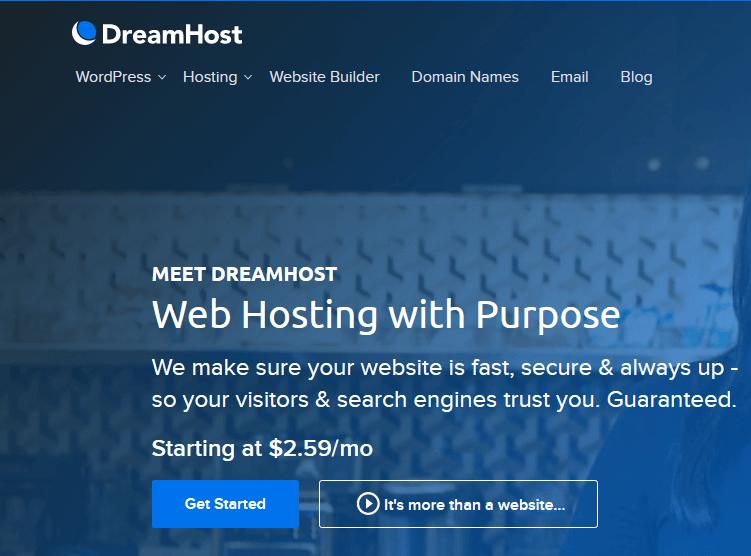 ارخص استضافة DreamHost