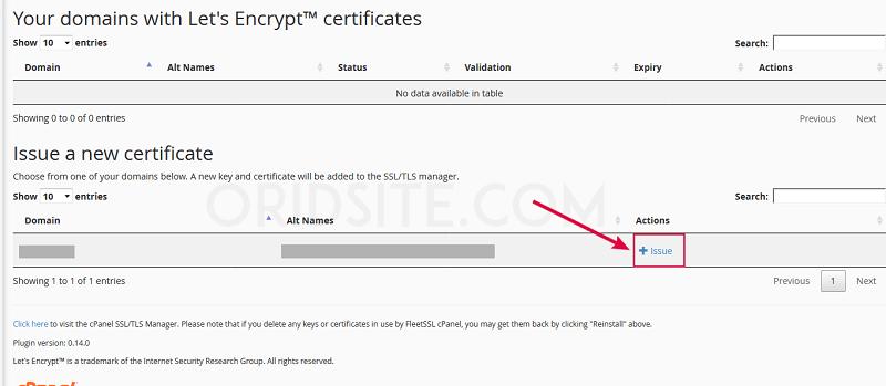 تثبيت شهادة SSL المجانية على fastcomet