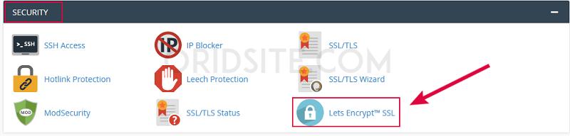 تثبيت شهادة SSL المجانية