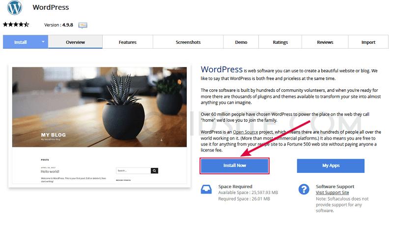 تثبيت ووردبريس على استضافة فاست كومت