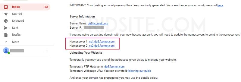 عناوين Nameserver الخاصة بإستضافة FastComet