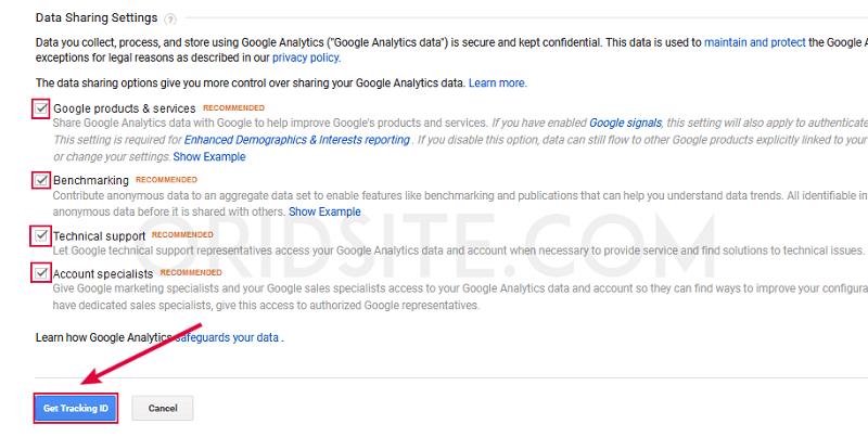 انشاء حساب Google Analytics جديد