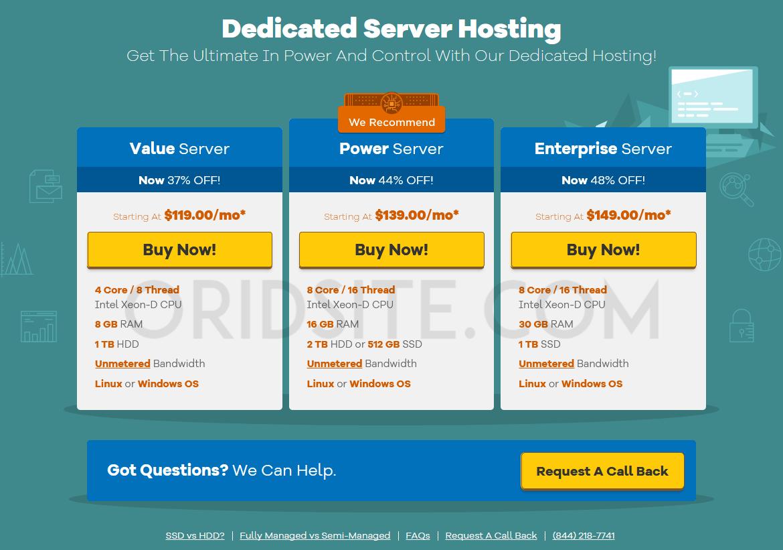 استضافة Dedicated الخاصة باستضافة Hostgator