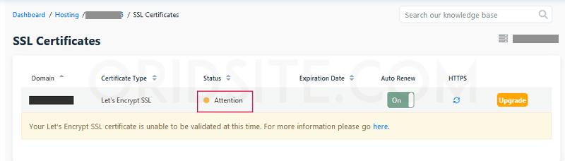 حالة شهادة SSL الخاصة بإستضافة HostGator - كيفية عمل ويب سايت