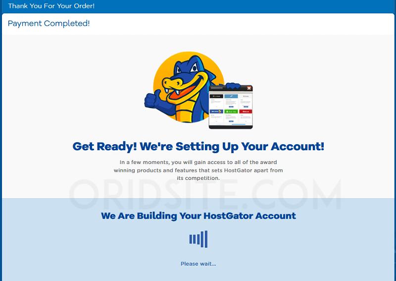 نجاح عملية الدفع لشراء استضافة hostgator