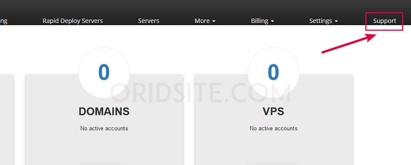 الإتصال بالدعم الخاص باستضافة InterServer-كيفية انشاء موقع ويب خاص بك