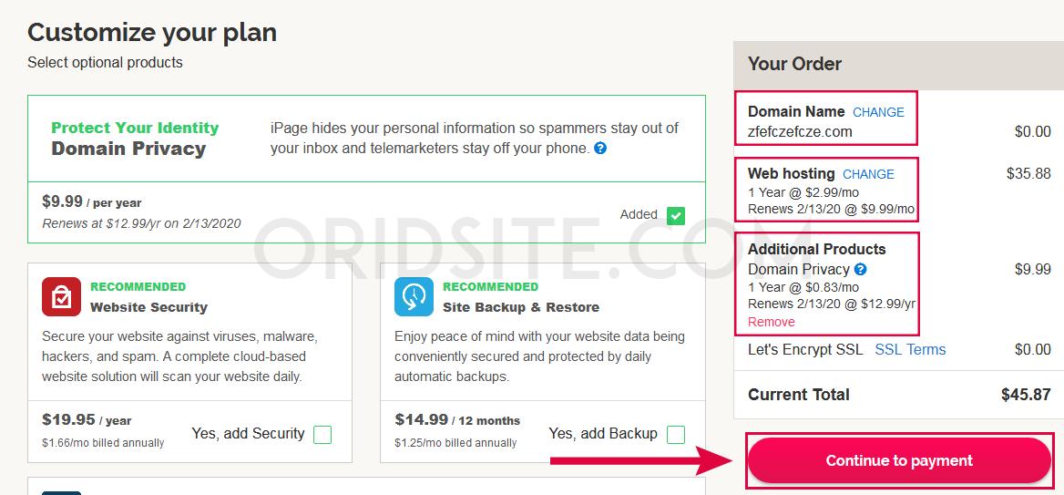 حجز دومين مدفوع مجانا من استضافة iPage