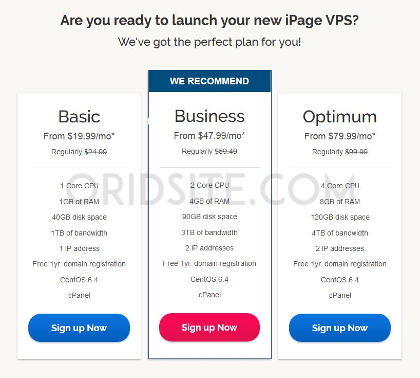استضافة VPS الخاصة باستضافة iPage