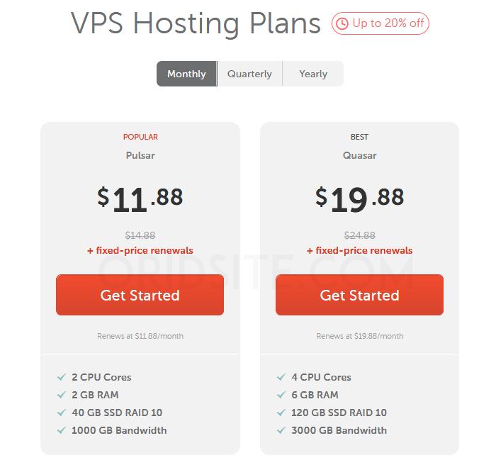 استضافة VPS الخاصة بشركة namecheap