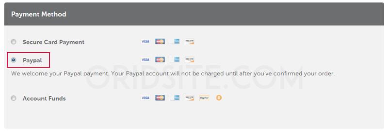 الدفع بواسطة بايبال لشراء استضافة نيم شيب
