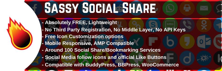 اضافة Sassy Social Share