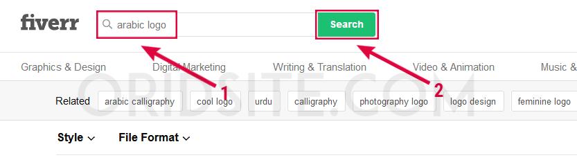 البحث عن مصممين للوجو عربي - موقع شراء لوجو