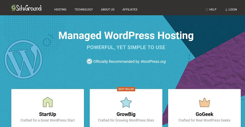 استضافة SiteGround – اقوى استضافة ووردبريس