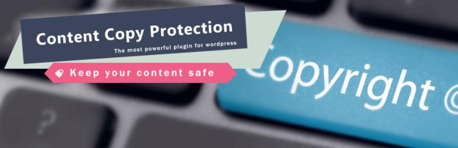 اضافة WP Content Copy Protection & No Right Click